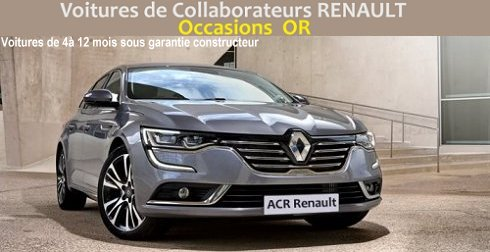 Annonces Occasions OR des collaborateurs RENAULT