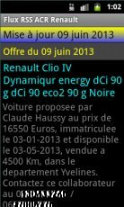 Flux RSS ACR Renault Android